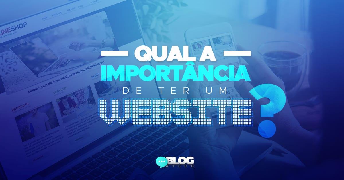 a importancia deter um website