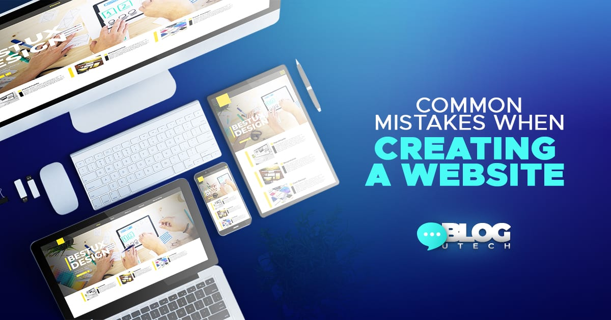 mistakes when creating a website